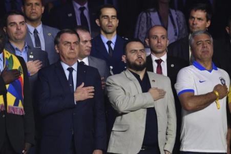 Jair Bolsonaro, na abertura da Copa América 2019, no Morumbi