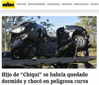 Arce - acidente mata filho do ídolo do Palmeiras