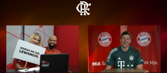 Flamengo - Gabigol e Lewandowski