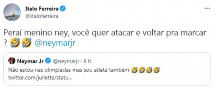 Italo Ferreira, Neymar e Juliette