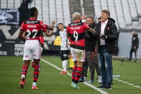 Corinthians x Flamengo - Comemoração Fla