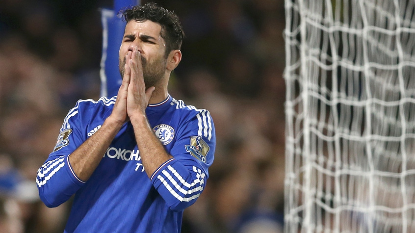 HOME - Chelsea x Bournemouth - Campeonato Inglês - Diego Costa (Foto: Ben Stansall/AFP)
