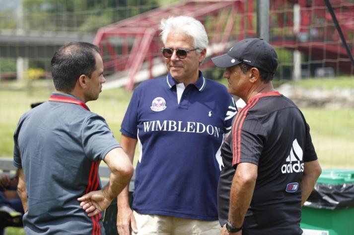 Flamengo - Caetano, Godinho e Muricy em Mangaratiba (foto:Gilvan de Souza/Flamengo)