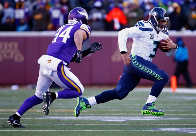 Seattle Seahawks e Minnesota Vikings (foto:Hannah Foslien / GETTY IMAGES NORTH AMERICA / AFP)