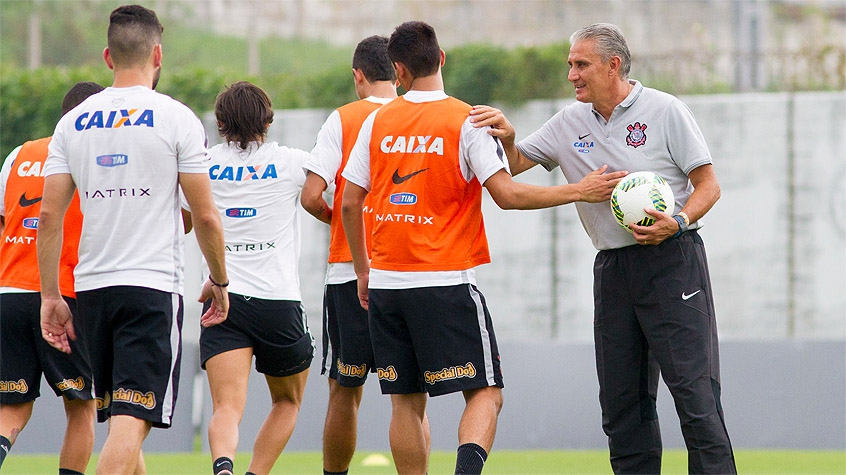 HOME - Treino do Corinthians - Tite (Foto: Marco Galvão/Fotoarena/LANCE!Press)