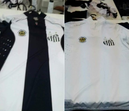 Novas camisas do Santos