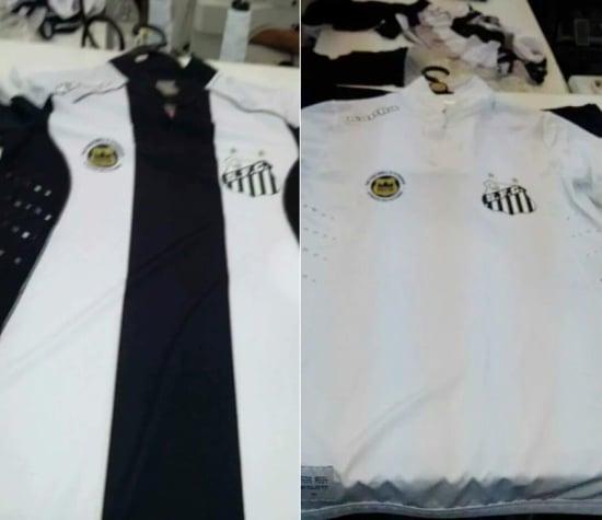 15e40e5ea6db3 Novas camisas do Santos