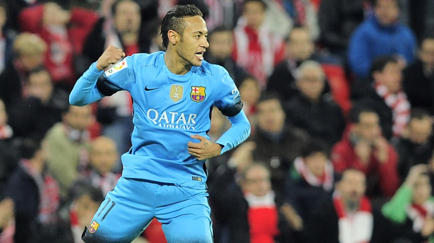 HOME - Athletic Bilbao x Barcelona - Copa do Rei - Neymar (Foto: Ander Gillenea/AFP)