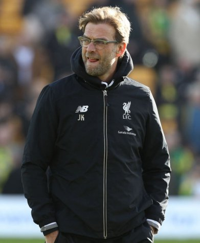 Klopp - Norwich x Liverpool (Foto: Lindsay Parnaby / AFP)