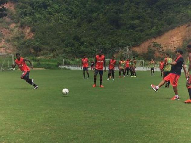 Flamengo treinou no Recife neste sábado (Divulgação/Flamengo)