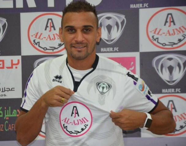 Atacante Bruno Lopes, do Hajer Club, da Arábia Saudita
