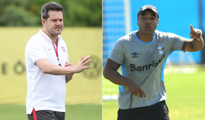 Argel Fucks, do Internacional, e Roger Machado, do Grêmio