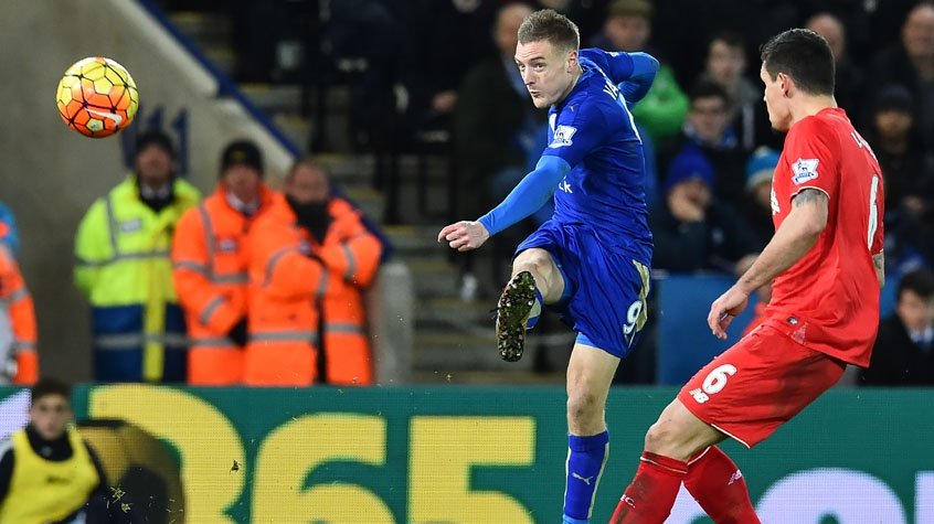 HOME - Leicester x Liverpool - Campeonato Inglês - Jamie Vardy (Foto: Ben Stansall/AFP)