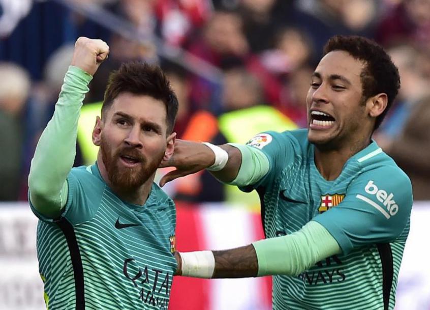 Messi e Neymar - Barcelona