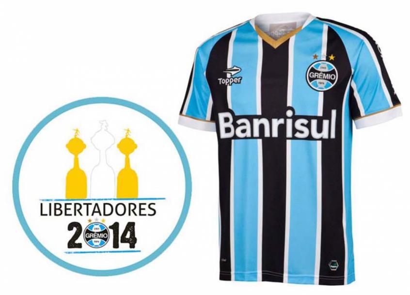Topper lança camisa do Grêmio para a disputa da Libertadores  70c70e7a54f78