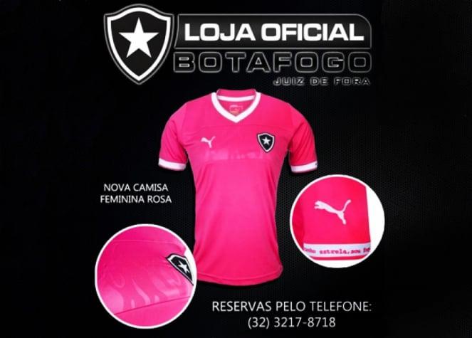 Loja oficial de Juiz de Fora divulga nova camisa rosa do Botafogo ... fc56fdc9bdc70
