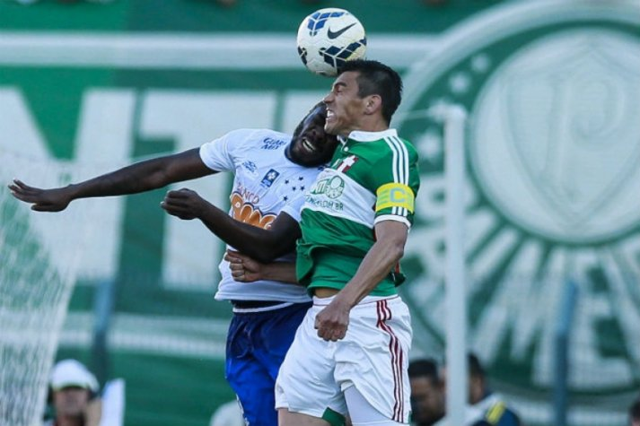 Manoel e Lúcio - Cruzeiro e Palmeiras (Foto: Marcello Zambrana/Light Press)