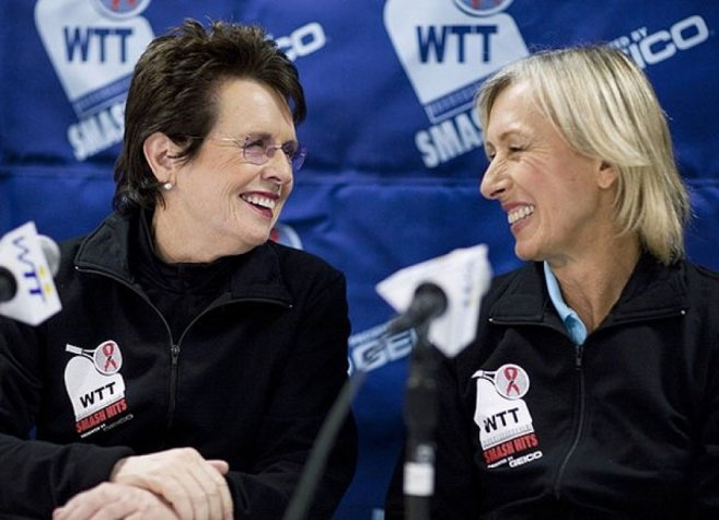 Billie Jean King e Martina Navratilova (Foto: Reuters)