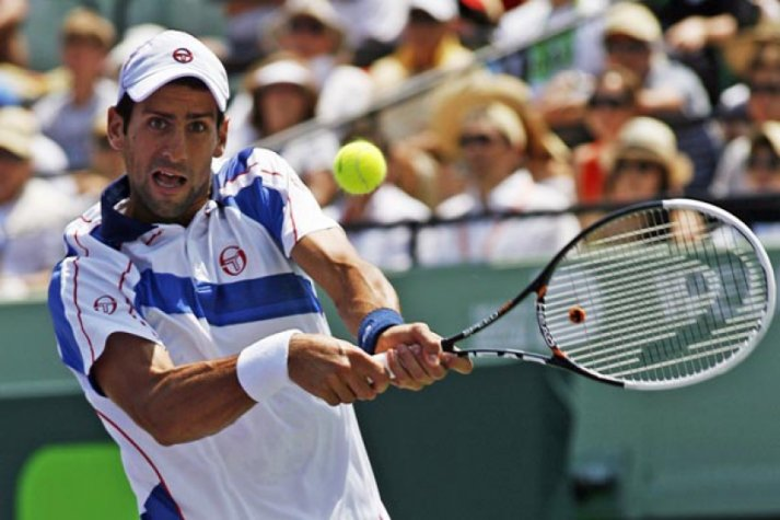 Novak Djokovic no Sony Ericsson Open (Foto: Andrew Innerarity/Reuters)
