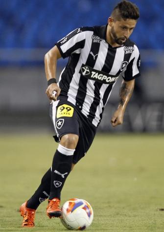 Elvis em ação contra o Santinha (Vitor Silva/SSPress/Botafogo)