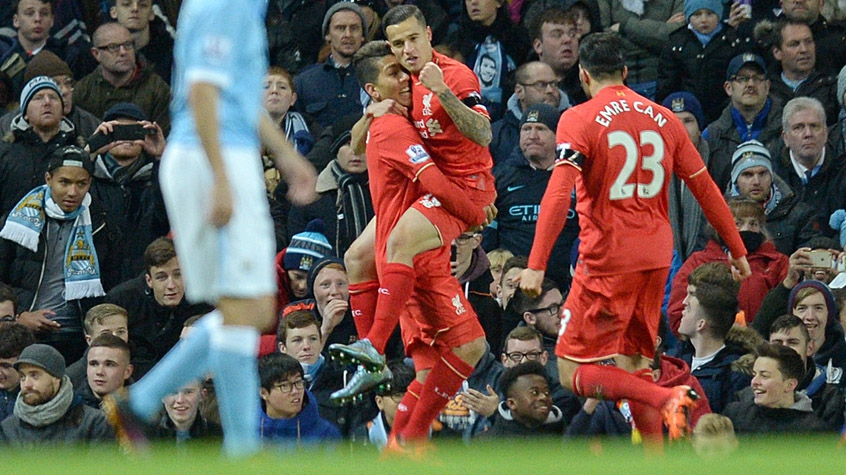 HOME - Manchester City x Liverpool - Campeonato Inglês - Gol de Philippe Coutinho (Foto: Oli Scarff/AFP)