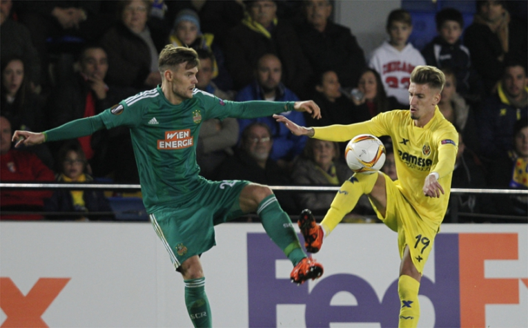 Villarreal x Rapid (foto:AFP)