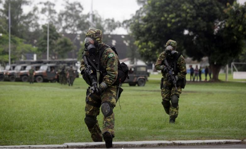 Forças Armadas realizaram treinamento na última quinta-feira no Rio (Foto   Felipe Barra 8c5849f35d0b3