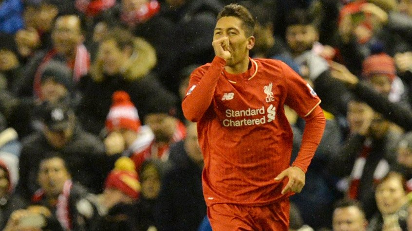 HOME - Liverpool x Arsenal - Campeonato Inglês - Firmino (Foto: Paul Ellis/AFP)