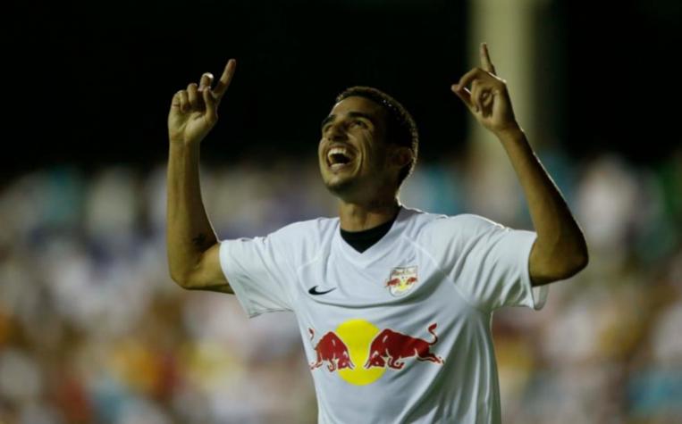 Red Bull Brasil x Santos - Thiago Galhardo deixou sua marca no jogo (Foto: Ari Ferreira/Lancepress!)