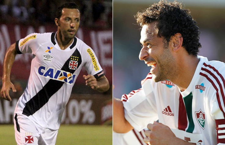 Nenê, do Vasco, e Fred, Fluminense
