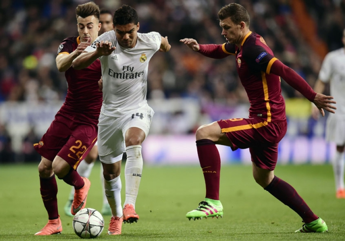Casemiro - Real Madrid x Roma