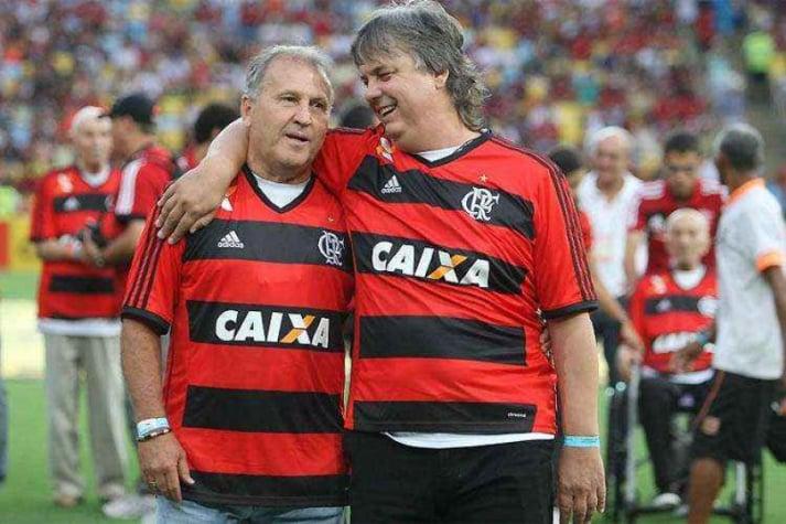 Gaúcho (à direita) posa ao lado de Zico no Maracanã (Foto: Divulgação)