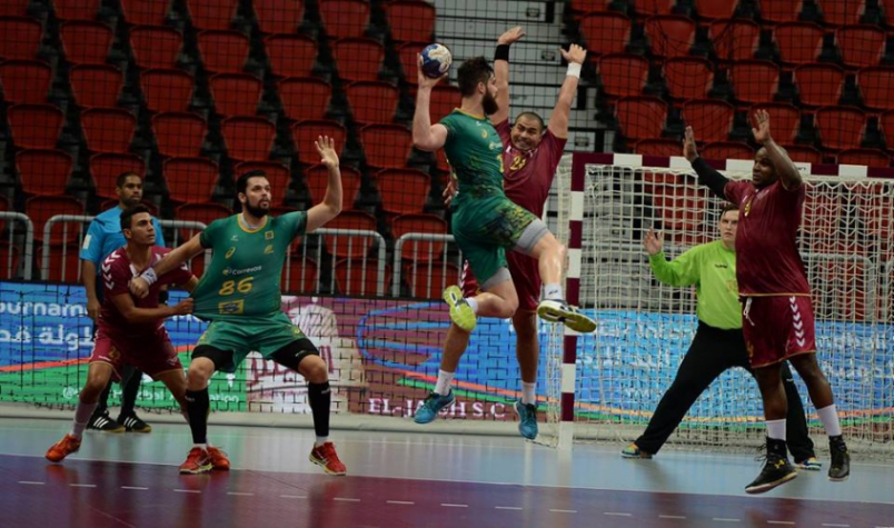 Brasil e El Jaish/ Foto: Qatar Handball Association
