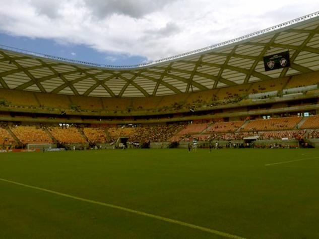 Arena Amazônia antes de Fluminense x Vasco
