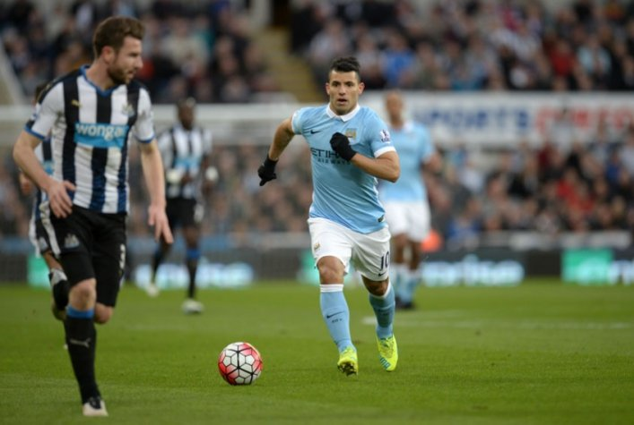 Aguero - Newcastle x Manchester City