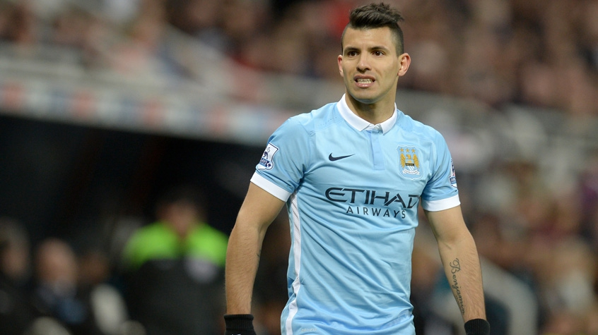 HOME - Newcastle United x Manchester City - Aguero (Foto: Oli Scarff/AFP)
