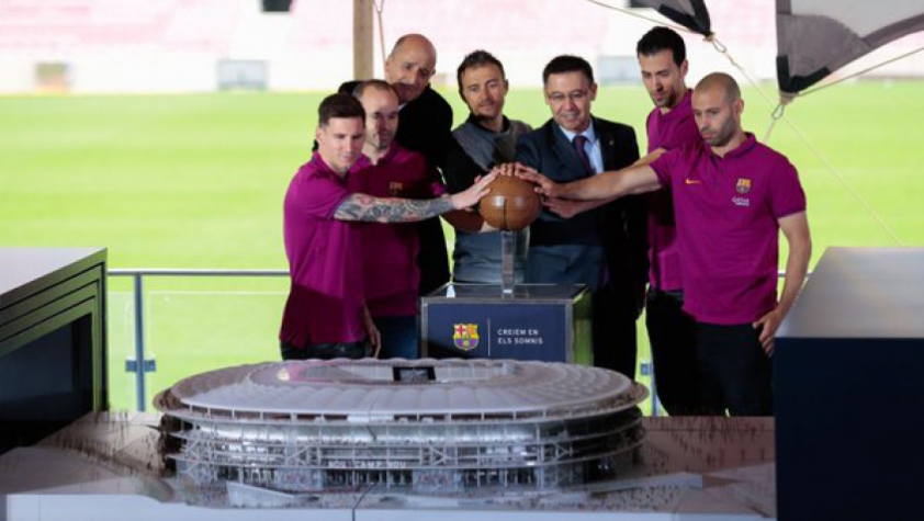 Maquete do Nou Camp Nou