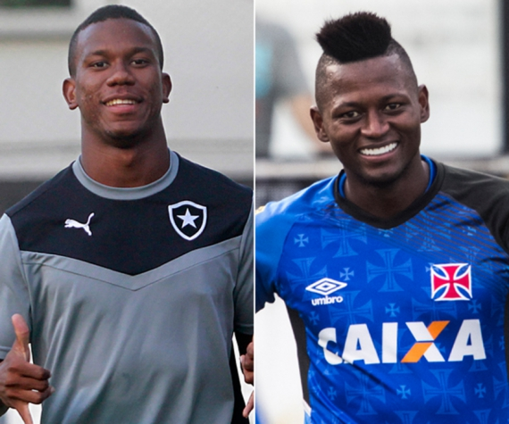 Ribamar, do Botafogo, e Riascos, do Vasco