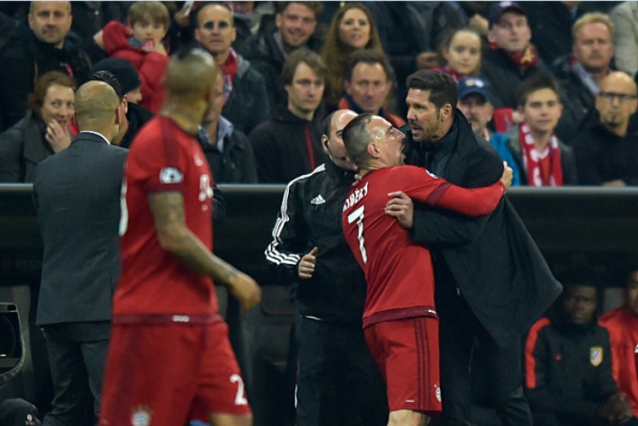 Ribery e Simeone - Bayern de Munique x Atletico de Madrid