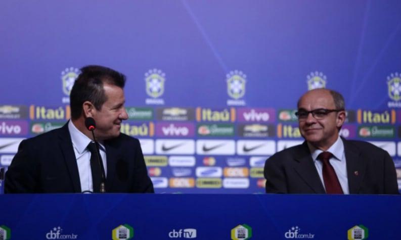 Dunga e Eduardo Bandeira de Mello (Foto: Lucas Figueiredo/MowaPress)