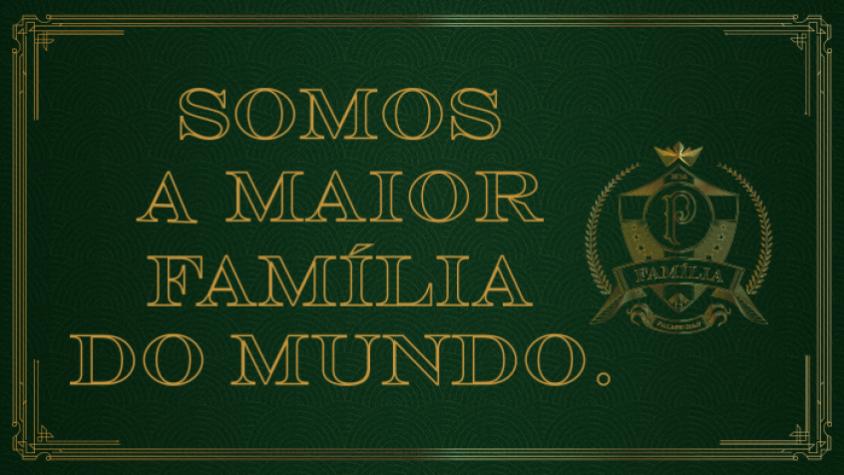 b8215baaca496 Palmeiras cria campanha para reunir  a maior família do mundo