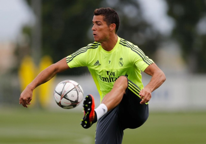 Cristiano Ronaldo - Treino do Real Madrid