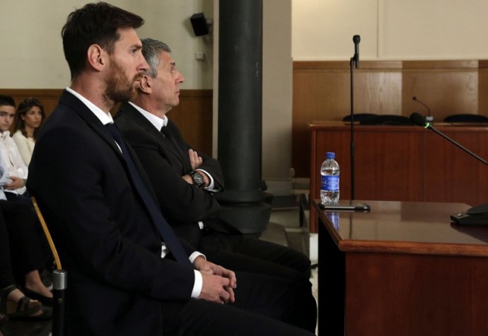 Messi no tribunal de Barcelona