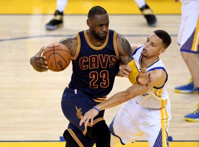 LeBron James e Stephen Curry - Golden State Warriors x Cleveland Cavaliers