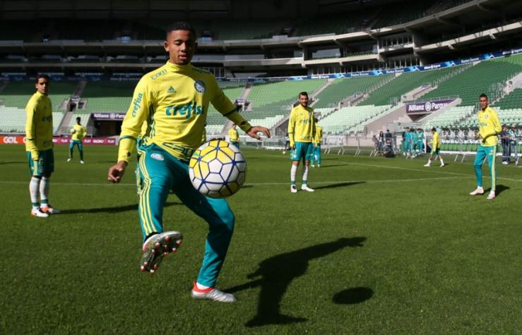 Jogadores do Palmeiras treinam no Allianz Parque neste sábado (Foto  César  Greco) 8c5abb9f88c70