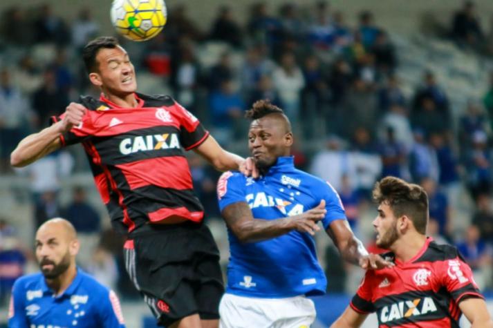 Réver e Riascos - Cruzeiro x Flamengo