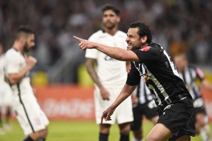 e90522f896 Fred no Atlético-MG - marcando gol