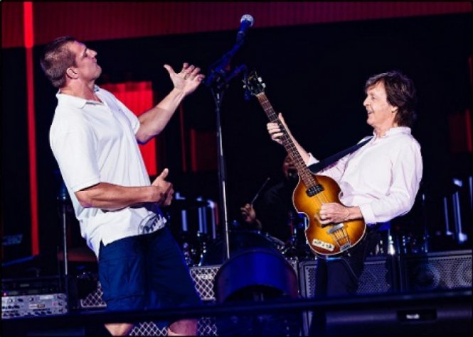 Rob Gronkowski e Paul McCartney