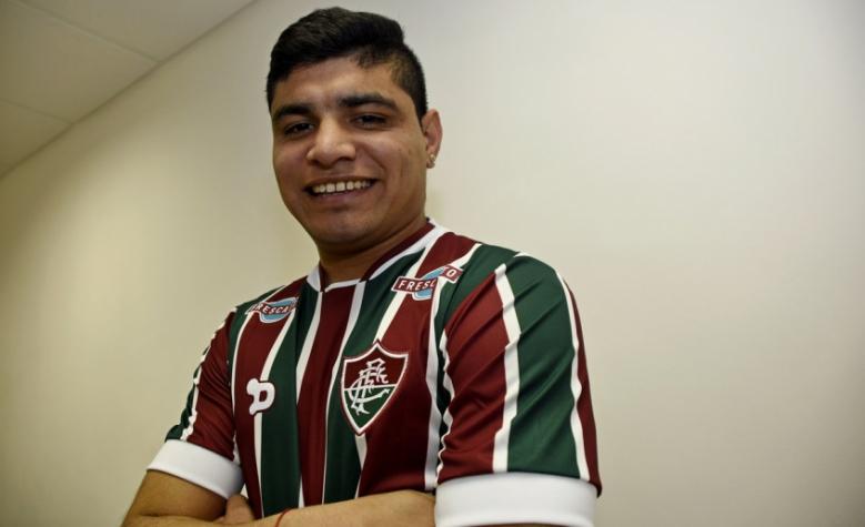 deb707d6fd Jogador estava no Independiente e assinou contrato por um ano com o Flu  (Foto  Mailson Santana Fluminense)