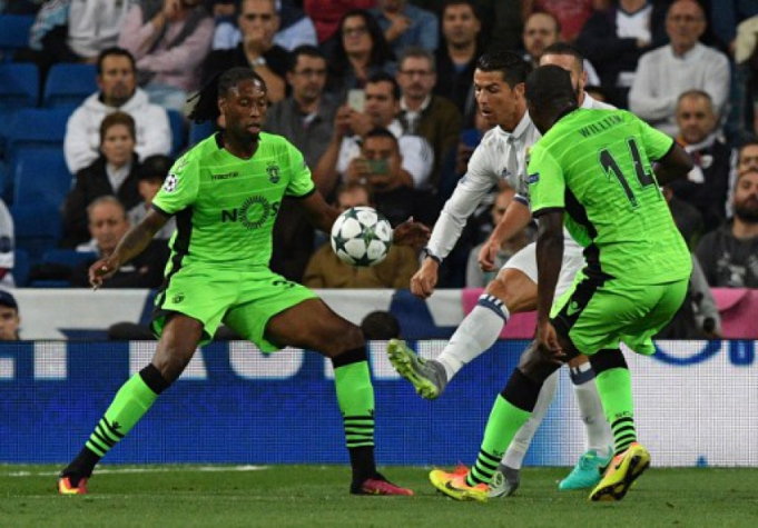 Cristiano Ronaldo, Ruben Semedo e William Carvalho - Real Madrid x Sporting